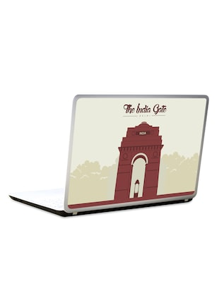 India gate printed laptop decal