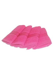 pink cotton face towel set of 4 -  online shopping for towels