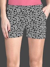 Monochrome Printed Cotton Lycra Shorts - AGC By Pretty Angel