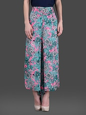 Multi Color Printed Georgette Palazzos - London Off