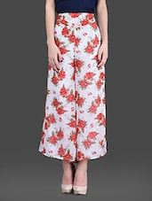Rose Printed Georgette Palazzos - London Off