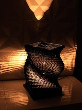 Helix Shaped Black Table Lamp - By