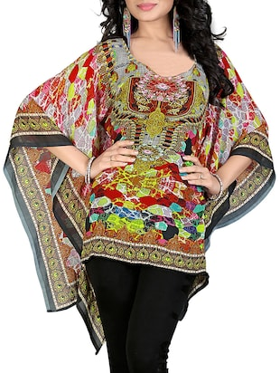 multi georgette kaftan