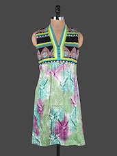 Sleeveless Printed Cotton Kurta - Rain And Rainbow
