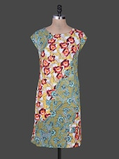 Multi Coloured Printed Cotton Kurta - Rain And Rainbow