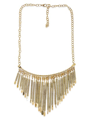 gold brass necklace