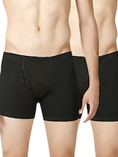 black cotton trunks (set of 2) -  online shopping for Briefs