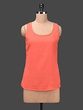 Orange Sleeveless Georgette Top - Ama Bella