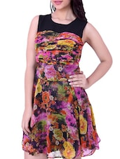 Floral Inspired Sleeveless Fit & Flare Dress - Tong