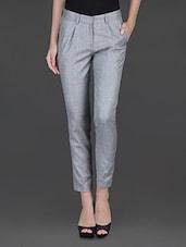 Light Grey Front Pleat Formal Trouser - Fast N Fashion