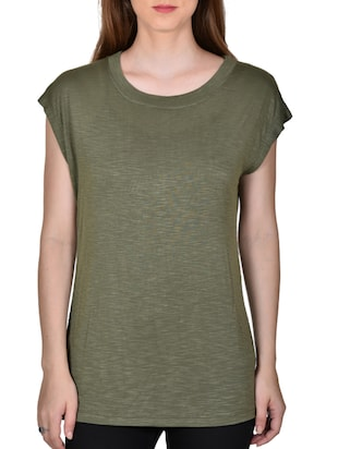 green color, cotton printed top