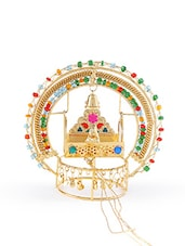 gold metal krishan ji jhulaa -  online shopping for Figurines