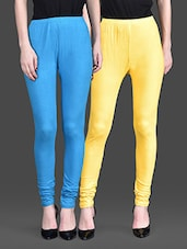 Yellow And Blue Leggings (Set Of 2) - By