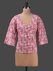 Floral Print Short Crepe Top - Yepme