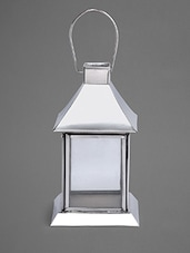 Stainless Steel Hanging Tea-Light Holder With Glass Walls - Indian Reverie
