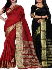 combos (set of 2) multi color saree -  online shopping for Sarees