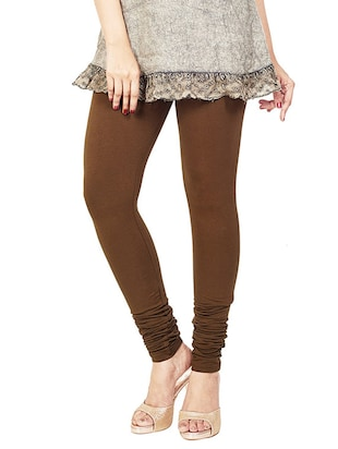 solid brown cotton legging