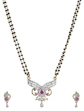 Silver Metallic Stones And Beads Gold Plated Necklace Set - ESmartDeals