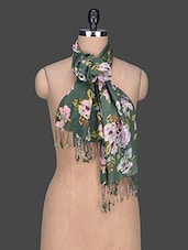 Floral Print Cotton Scarf - Red Lorry