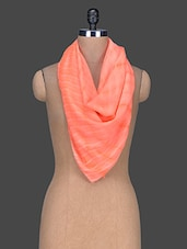 Tie & Dye Printed Polyester Scarf - Red Lorry