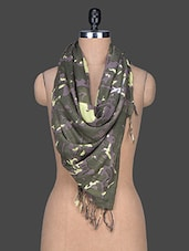 Camouflage Print Viscose Scarf - Red Lorry