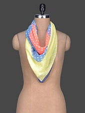 Polka Dot Printed Polyester Scarf - Red Lorry