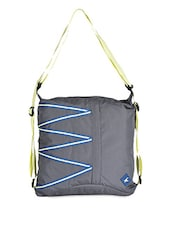 Neon Strap Grey Polyester Sling Bag - FASTRACK
