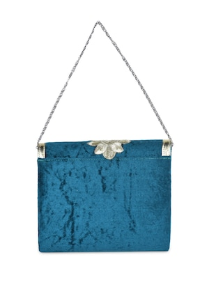 7223f886a639d Buy Embroidered Velvet Clutch Cum Sling Bag for Women from Saisha ...
