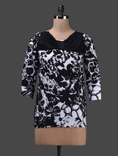 Black Quarter Sleeve Poly Knit Top - Glam And Luxe