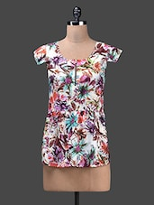 Multicolour Floral Cotton Top - Glam And Luxe