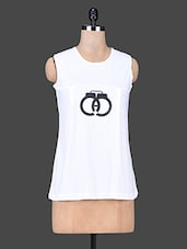White Round Neck Sleeveless Cotton Top - Trend Arrest