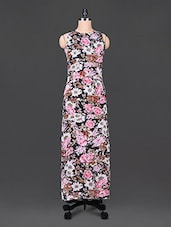 Floral Print Sleeveless Maxi Dress - Trend Arrest