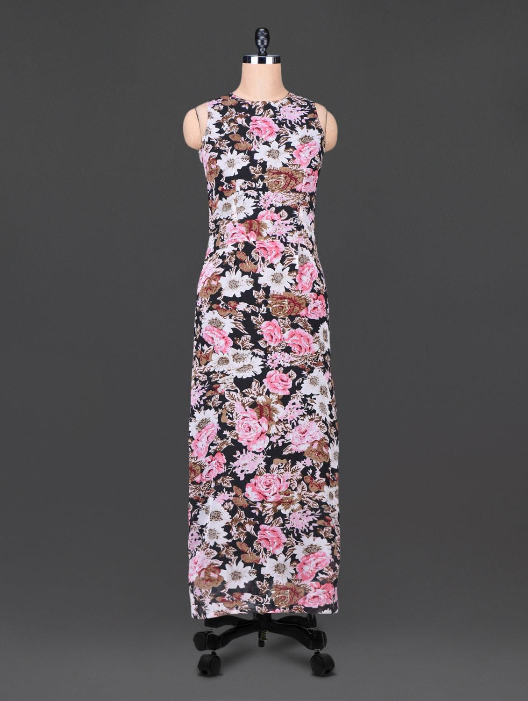 Floral Print Sleeveless Maxi Dress - Trend Arrest