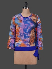Multicoloured Printed Full-sleeved Top - Texco