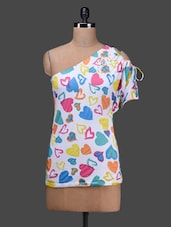 White Printed Cotton Top - SPECIES