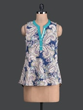 Paisley Printed Sleeveless Top - Label VR
