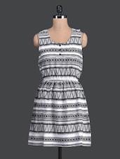 Monochrome Multipattern Printed Dress - Label VR
