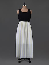 Dual Toned Georgette Maxi Dress - G&M Collections