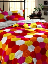 multicolored cotton printed double bed sheet -  online shopping for bed sheet sets