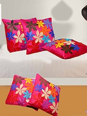 Premium Quality Designer Cushion Cover (16x16-inch) - Set Of 5 - By