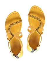 Yellow Faux Leather Sandals - NELL