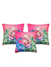 Peacock Print Polyester Cushion Cover - My Room