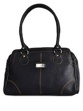 Solid Black Office Handbag - Coash
