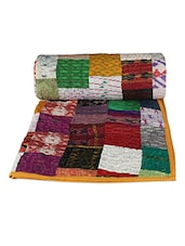 Multicoloured Patchwork Patterned Quilt - Rajcrafts