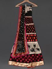 Embroidered Black Georgette Anarkali Suit Set - Sarees Bazaar