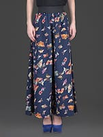 butterflies printed poly crepe palazzos -  online shopping for Palazzos