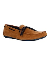 tan leather slip on moccasins -  online shopping for Moccasins