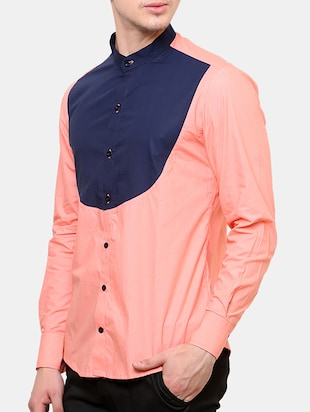 pink cotton casual shirt - 11536376 - Standard Image - 2