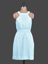 Halter Neck Crepe Dress - Tops And Tunics