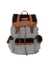 multi colored canvas striped backpack -  online shopping for backpacks